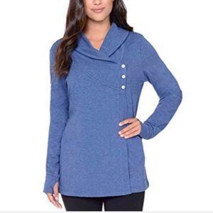 DANSKIN ✨NWT✨ Wrap Cardigan Blue Athletic Jacket